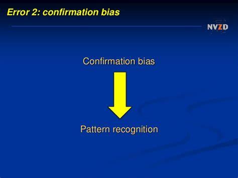 pattern recognition bias evidence based decision making for hospital administrators