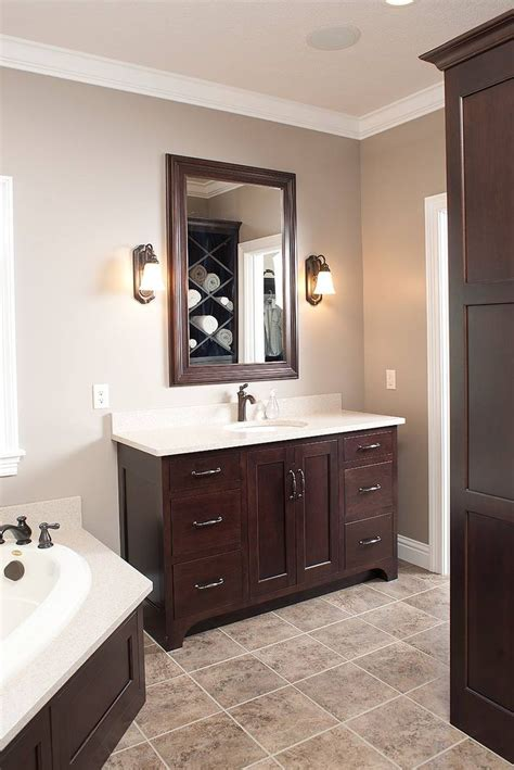 bathroom wall colors with white cabinets 25 best ideas about dark wood bathroom on pinterest