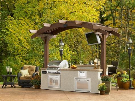 outdoor island kitchen the garden and patio home guide