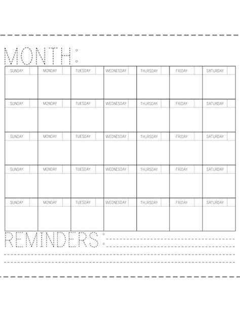 online printable fill in calendar printable calendar fill in the blank