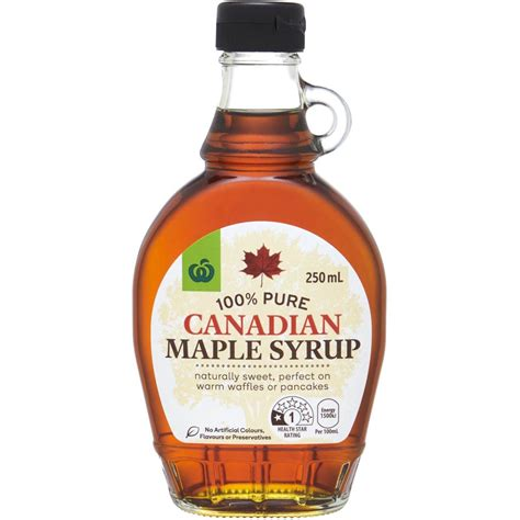 Maple Syrup by Woolworths 100 Canadian Maple Syrup 250ml Woolworths