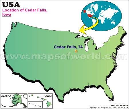 waterfalls in usa map where is cedar falls iowa