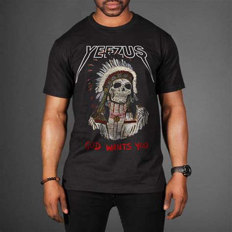 Kanye West Yeezus Tshirt indian skeleton yeezus tour t shirt wehustle