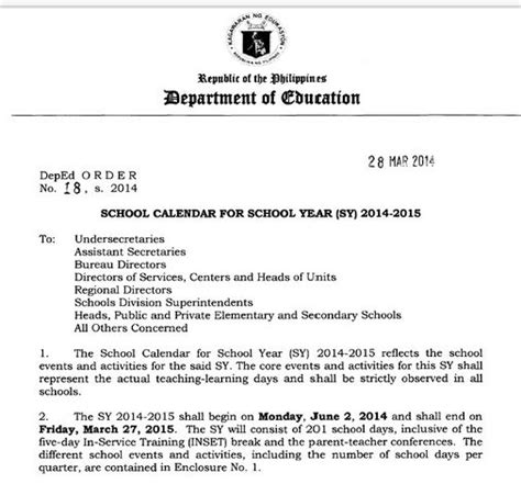 theme for education week 2014 philippines deped released sy 2014 2015 schedules press release