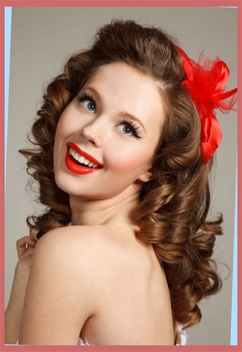 50s Pin Up Hairstyles by 50s Hairstyles For Curly Hair Right Hs
