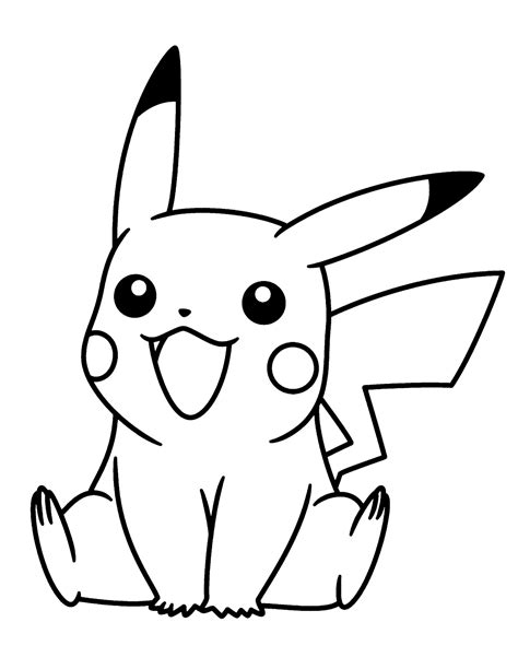 Dibujos de Pikachu para colorear e imprimir gratis