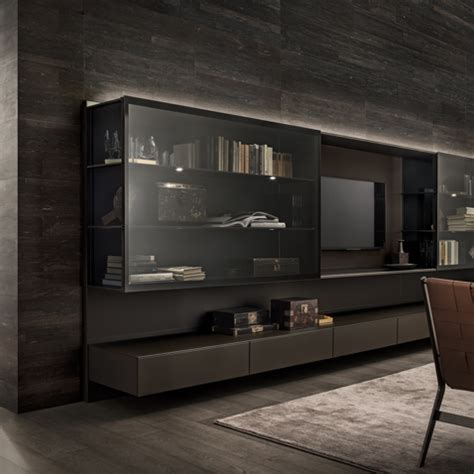 Brown Livingroom abacus living living room system rimadesio