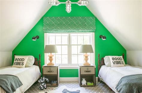 Green Bedroom Accent Wall Interior Design Inspiration Photos By D2 Interieurs
