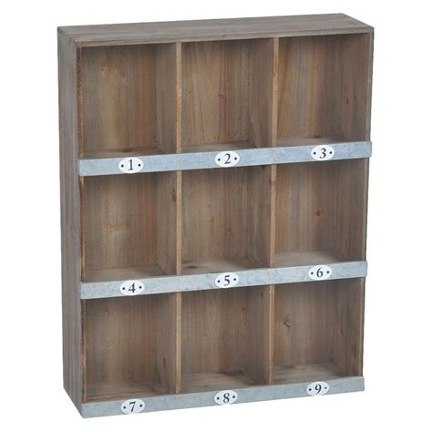Thin Metal Decorative Strips by Wooden Numbered Wall Shelf 9 Slot Wall Shelves Wooden