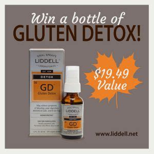 Detox Trio Promo Code by Liddell Laboratories Win A Bottle Of New Gluten Detox