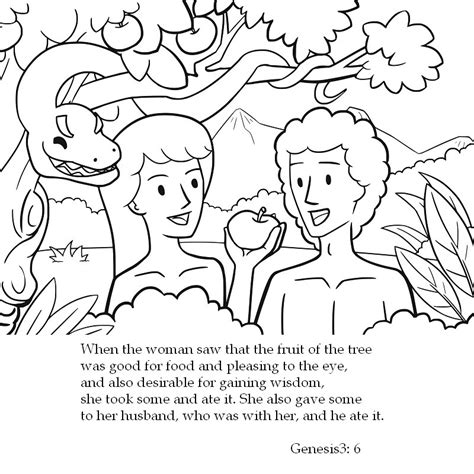 coloring page for adam and eve adam and eve coloring pages