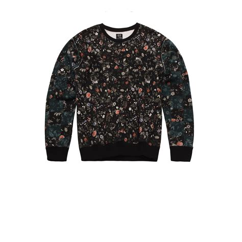 Sweater Sket Logo 1 lyst mcq micro floral logo sweater in gray for