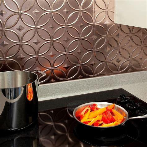 Pvc Backsplash Kitchen by Fasade 24 In X 18 In Rings Pvc Decorative Backsplash