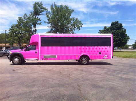 limousine bus pink limo bus syracuse limo bus