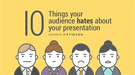 10 things your audience hates about your presentation