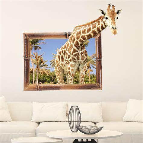 Trendwatch Trompe Loeil by Sticker Trompe L Oeil Animaux Girafe Stickers Salon