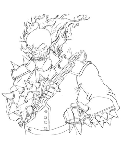 ghost rider 2 coloring pages free coloring pages of ghost rider 2