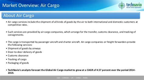 global air cargo market 2015 2019