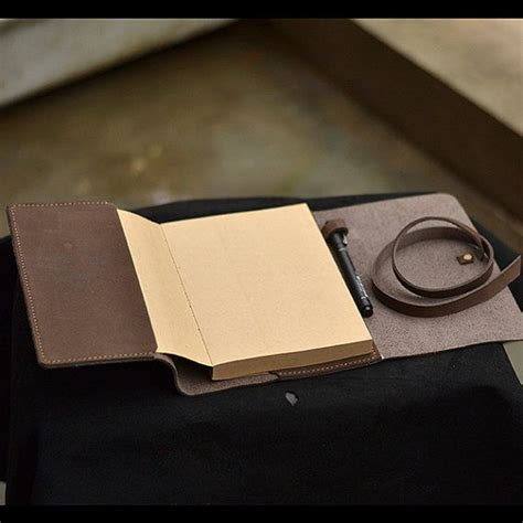 sketch book with leather cover refillable leather journal with pen loop vintage