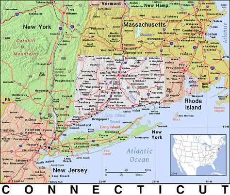 ct on us map ct 183 connecticut 183 domain maps by pat the free