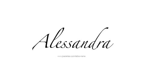 alessandra name tattoo designs
