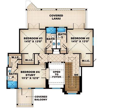 Covered Lanai With Fireplace 66288we 1st Floor Master Lanai House Plans