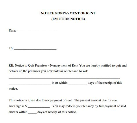 sle eviction notice form 6 download free documents