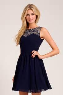 navy embellished lace detail sweetheart neckline prom dress