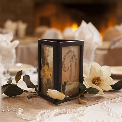 centerpieces with photos picture frame candle centerpiece photo glo fully assembled