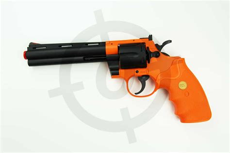 ua938 uhc orange airsoft bb gun revolver airsoft objectives