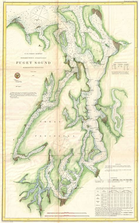 Map Of Puget Sound And by Map Of Puget Sound From 1867 Seattle