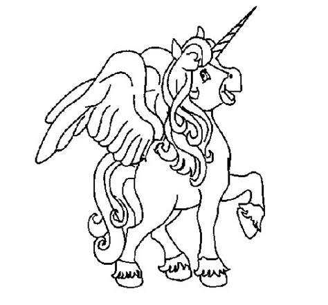 unicornios imagenes alas dibujo de unicornio con alas para colorear dibujos net