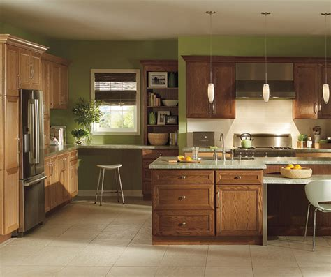 natural oak kitchen cabinets natural oak cabinets with dark kitchen island homecrest