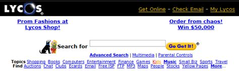 Lycos Search 7 Search Engines That Rocked Before Even Existed
