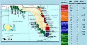 shark attacks in florida map geogarage every reported shark attack worldwide since 1580