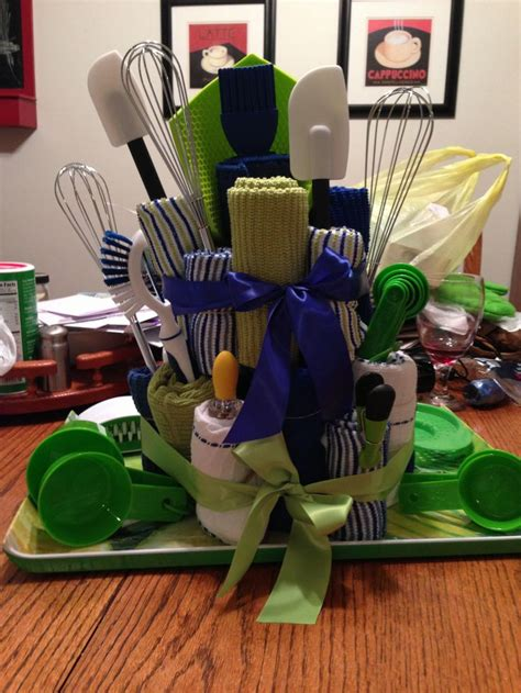 kitchen gift basket ideas kitchen towel cake bridal shower gift gift ideas make it kitchen towels shower
