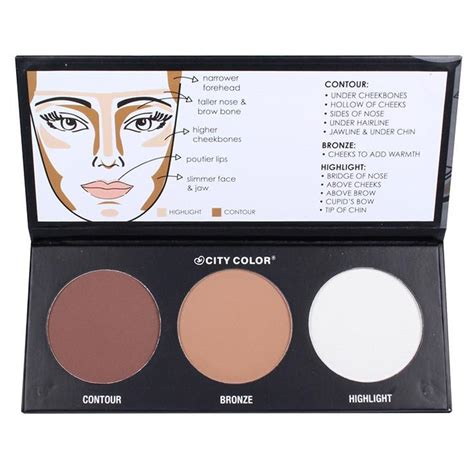 City Color Concealer And Contour Palette 100 Original contour palette city color cosmetics