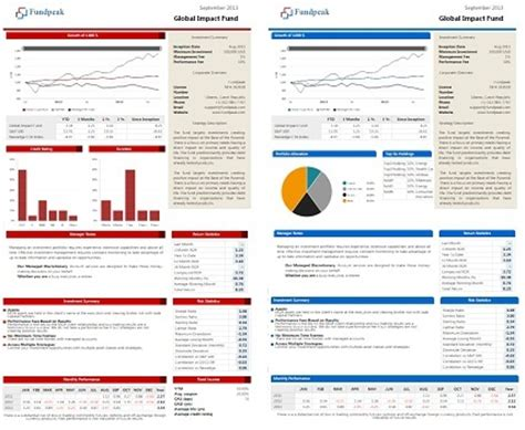 fund fact sheet template choose between five default fund factsheet templates