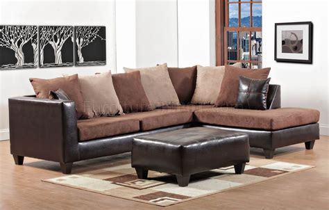 vinyl sectional mocha fabric dark brown vinyl contemporary sectional sofa