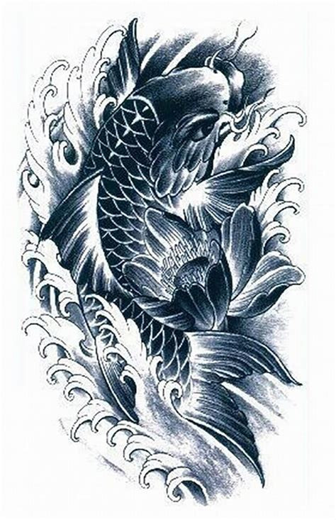 black and grey koi fish tattoo designs 18 wonderful koi designs and ideas