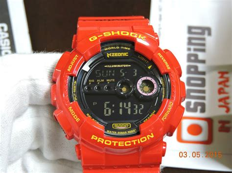Gd 100 Gundam live photos g shock gd 100 x gundam char aznable