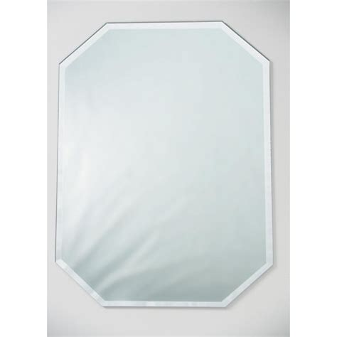 beveled mirror table runner mirror placemat octagon with beveled edge 12 x 18 inches