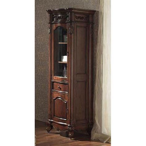 cherry linen cabinet avanity provence 24 inch antique cherry linen tower