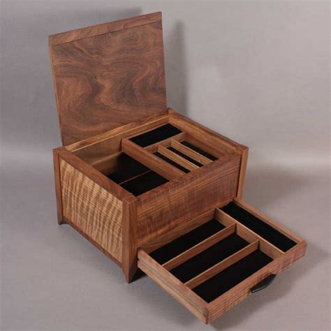 Jewelry Storage Boxes Drawers by Quilted Maple Inlay Banding Jewelry Box