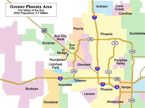 west valley arizona map view maps of arizona area retirement communities