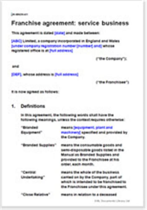 franchise agreement template uk franchise agreement template for your own franchise contract