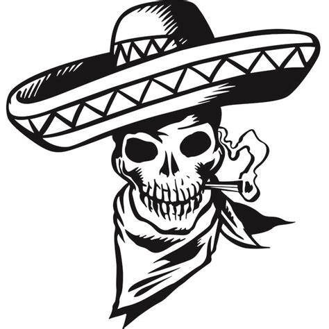 cartoon mexican skull wall sticker decal
