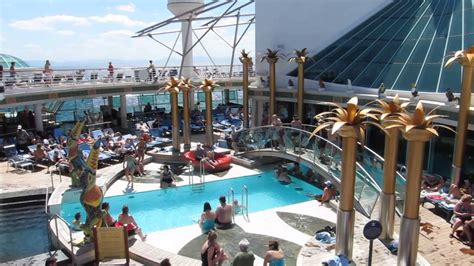 best deck on of the seas rccl liberty of the seas top deck tour