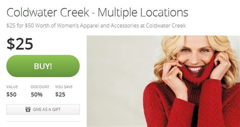 Coldwater Creek Gift Cards - coldwater creek 50 gift card for just 25 mojosavings com