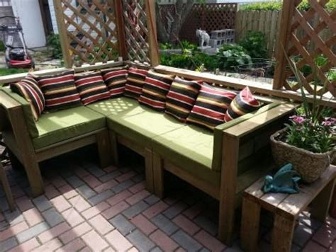 build your own outdoor sectional do it yourself outdoor furniture plans woodworking
